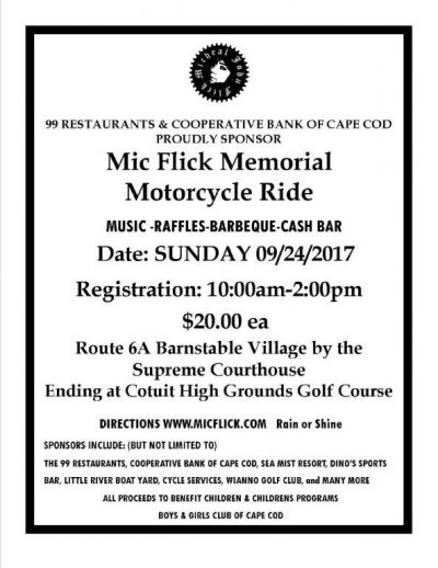 Mic Flick Motorcycle Ride