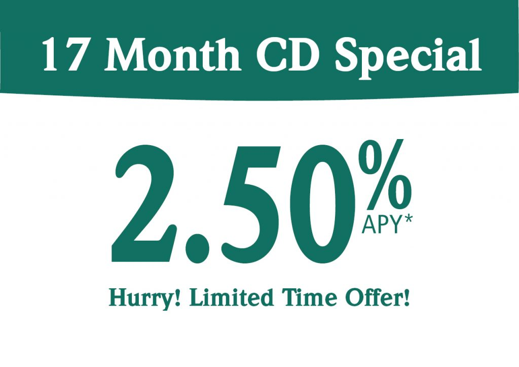 17 month CD 2.5% APY