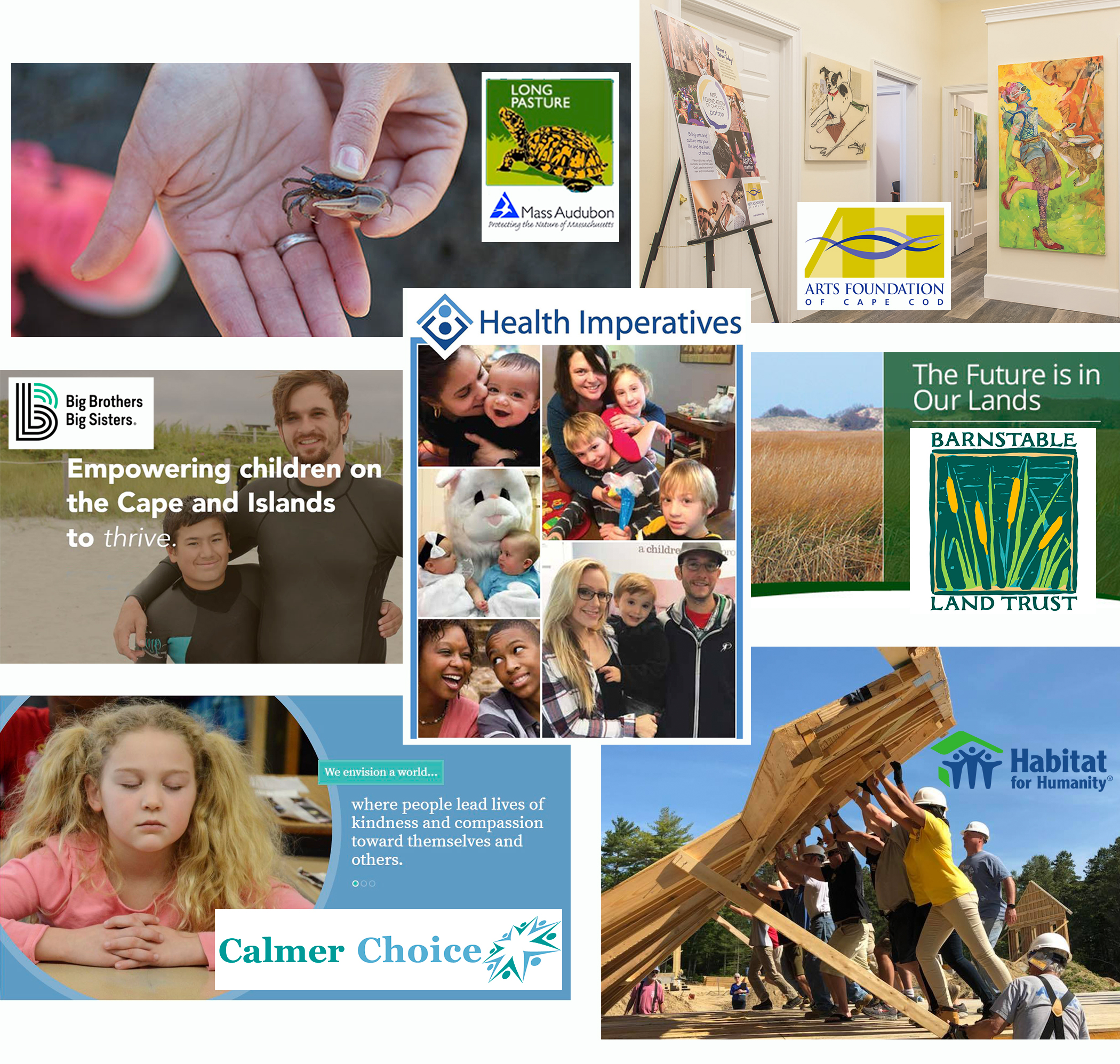 foundation grants collage of signature images representing beneficiary organizations