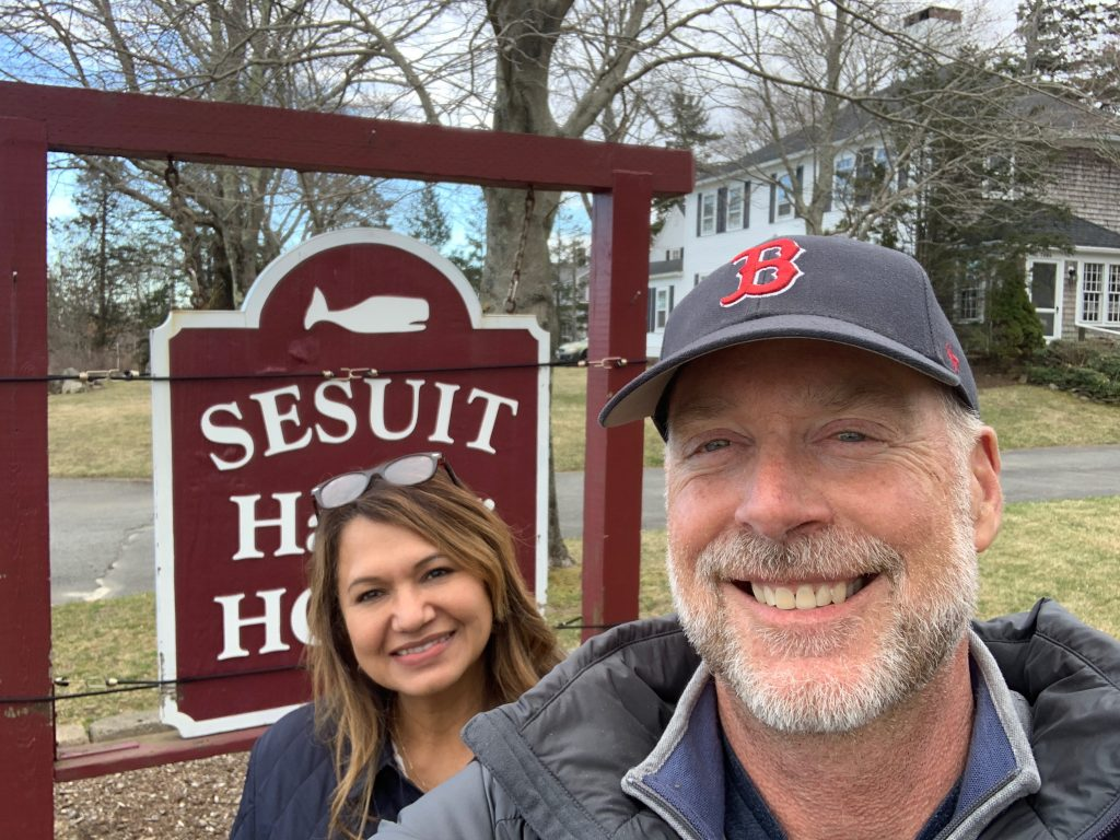 Phil and Silvia Baxter, owners of Sesuit Harbor House