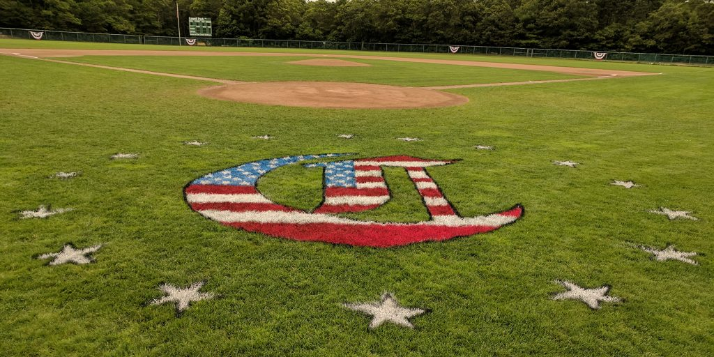 photo of the baseball field at Lowell Park in Cotuit on the evening of the event, Heroes in the Park.