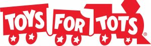Toys for Tots logo, red train