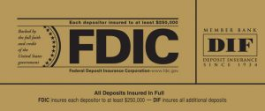 FDIC DIF decal