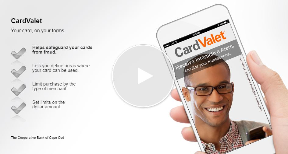 video start screen; CardValet