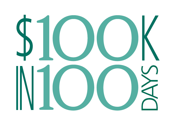 $100K in 100 Days graphic