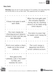 Story Cards for Banking Exercise