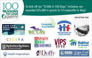 The Coop has awarded $25,000 in grants to 13 different nonprofits in May graphic