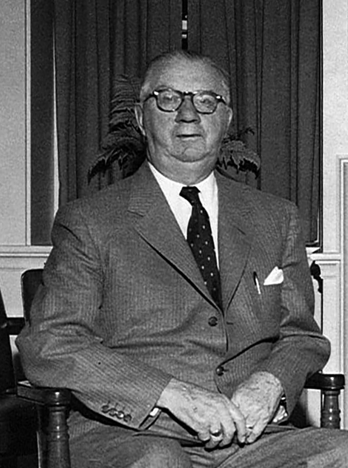 F. Howard Hinckley President of the bank in 1921