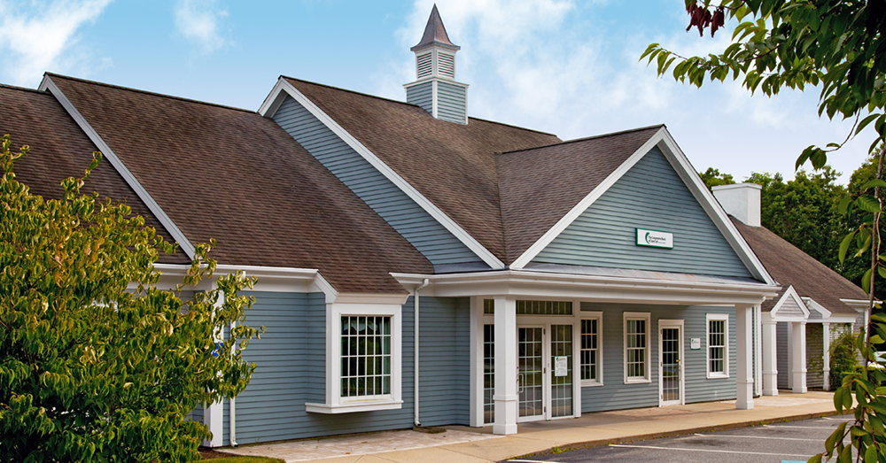 Exterior of CBCC bank in Sandwich