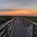 photo of sunset at Gray's beach boardwalk