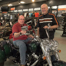 Image of Mike Keehan & Bob Szymanowski at Harley Davidson Cape Cod