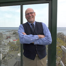 Image of David Weidner at the Pilgrim Monument in Provincetown, Massachusetts