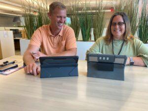 Matt Varum and Lisa Cusito meet at HQ